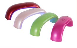 Wholesale New Design coloful nail lamp w led Nail light for Gel Dryer curing Polish tool nail art light