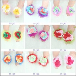 Wholesale new baby socks Children s feet to spend The baby foot flower Barefoot sandals Fashion European casual shoes