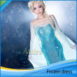 Wholesale 2015 Elsa costume frozen princess elsa dress costume adult cosplay chirstmas costumes for women fantasia elsa frozen custom A quality