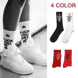 Wholesale 2 Pieces Men s Socks Tide Style FUCK YOU PAY ME Sport Socks for Men Women Long Cotton Street Skateboard Basketball Outdoor Socks