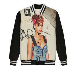 Discount Marilyn Printed Baseball Jacket | 2017 Marilyn Printed ...