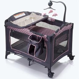 Las cunas portátiles de múltiples funciones Cunas camas para niños infantil del bebé Juguetes para bebés Juego Cama plegable Cama de diseño 11 MC-117