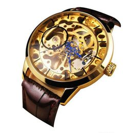 men wind up watch suppliers best men wind up watch manufacturers 2015 hot men mechanical skeleton watch hand wind up gold dial black leather strap vee from