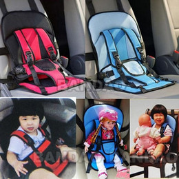 wholesale new 1pcs portable baby kids car carrier safety seat cover cushion mesh harnesssafety belt for children 3 8 years portable child car seat cushion
