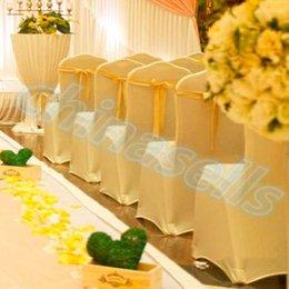 Wholesale new fashion wedding party hotel chair back flower bow satin chair back yarn decorative ribbon bow