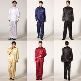 artes marciales envío libre del dragón bordado chino Wushu Kungfu uniforme de la ropa del funcionamiento de Taiji ropa tradicional chino M001X