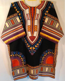 Wholesale African clothing traditional print dashiki dresses fashion design african bazin dress cotton dashiki T shirt for unisex