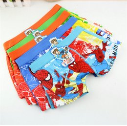 Wholesale Spiderman Boys Underwear Underpants Children Kids Boxers Cotton Briefs Cartoon Superhero Boy underwear Baby Clothes