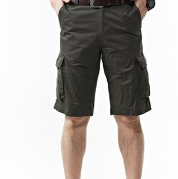 Wholesale Jeep Summer Mens Shorts Cargo Shorts Men Large Size Men Solid Many Pockets Men s Casual Pants Bags Slacks Men s Pants Shorts