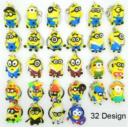 Wholesale promotion sales keychain cartoon D Despicable Me keychain car pendant small yellow people Despicable Me Minion key chain doll gift
