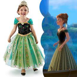 Wholesale Top Quality Girl Frozen Dress Children s Party Dress Girl Princess Costume Baby Girls Dress Frozen Dress