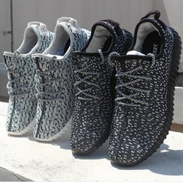 Wholesale YEEZY BOOST LOW MEN RUNNING SHOES Gray Black Men s Women s High Quality Fashion sneakers