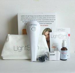Chegada nova Lightstim para acne rosto e pele cuidados massageador de vibração LightStim para rugas Plus dispositivo + Grátis DHL de soro de peptídeo de colágeno