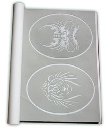 Wholesale New Arrived BOOKS Temporary Airbrush Tattoo Template New Booklet Stencil total books Designs can be choose