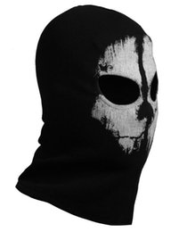 Wholesale Call of duty balaclava face mask full face mask ghost skull mask CS Game mask cycling motorcycle helmet windproof mask sporting mask