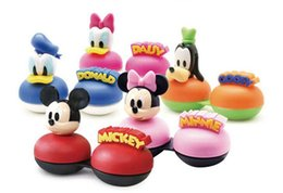 Wholesale Mickey Friends Contact Lens Cleaner Style D Cartoon Contact Lenses Case Lens Storage set Boxes Spring Style In Stock