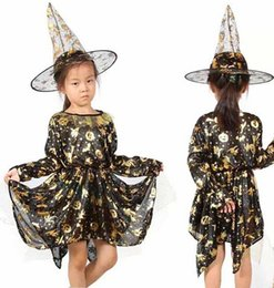 Wholesale halloween costumes dress halloween pumpkin witch dress girll Fancy Dress Child Party Dress Up Cosplay Costume Carnaval