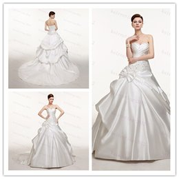 Wholesale 48 hour shipping In Stock Dresses Wedding Dresses Lace up Ball Gown cheap wedding dresses size