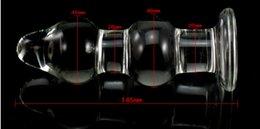 Wholesale Sex Toys Adult Toys Transparent Glass Crystal Anal Butt Plug G spot Stimulate Unisex backyard anal plug X45mm
