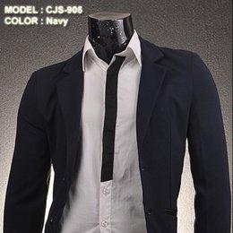 Wholesale 2014 New Jeansian Mens Designer Slim Fit Jacket Blazer Manteau style S M L CJS905