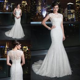 Wholesale 2016 Lace Vintage Backless Mermaid Wedding Gowns Sweetheart Detachable Bolero Jacket Plus Size Garden Beach Bridal Wedding Dresses