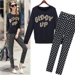 Wholesale Printing hoodie of European and American model splashy prints haren pants long sleeve sport and leisure suit for women