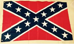 2015 Drapeau Nouvelle Guerre USA Confederate Rebel nationale civile Polyester Bannière Drapeau Imprimé 5X3FT 75D par DHL