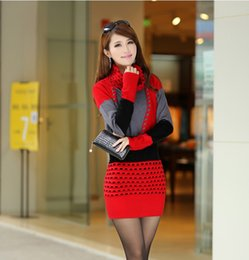 Wholesale Han edition of new fund of autumn winters in long sweater dress with thick sweater women s top coat