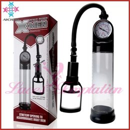 Wholesale sex products for man AICHAO mm mm Pressure gauge large penis pumps enhancement penis enlargers cock Extender adult sex toys