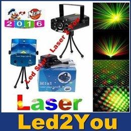 LED Mini Stage Light Laser et les effets Rouge-Vert Mini contrôle de la voix Déménagement Stage Laser DJ Lights Projecteur Xmas Party KTV Laser Lighting