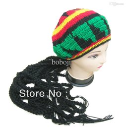Jamaican Halloween Costume o access jamaicas halloween number 1 costume choice is Wholesale Free Shipping Jamaican Rasta Fancy Costume Knitting Hat Hippie Beret Halloween Handmade Crochet Cap With Dreadlocks Wig Plait