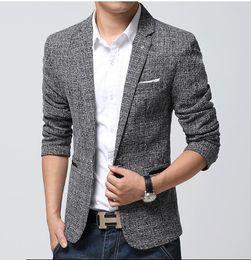 Discount Plaid Cotton Mens Suits | 2017 Plaid Cotton Mens Suits on ...