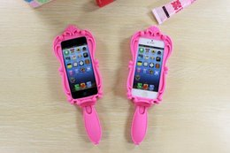 Wholesale Magic Cosmetic Mirror and D Barbie Girl Beautiful Doll Pink Soft Silicone GEL Case for iPhone S S Plus inch