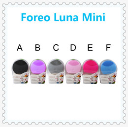 Wholesale 6 colors Rechargeable Foreo Luna Mini Ultrasonic Instrument Super Facial Cleaner Waterproof Charge Electric Lun Foreo good quality