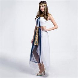 Wholesale 2014 New White Greek Goddess Costume Long Dress Halloween Fancy Party Cosplay Costume