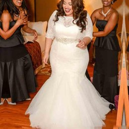Discount Three Quarters Mermaid Wedding Gown | 2017 Three Quarters ...