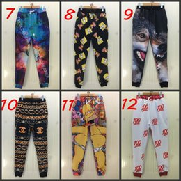 Wholesale Men Women Unisex D emoji Animal Space print Harem Baggy Sweat Pants Casual Sport Hip Hop Dance Trousers Slacks Joggers SweatPants Free
