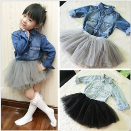 Wholesale New denim Shirts baby girls children s kids shirt boy long sleeve infant toddler clothing cool Soft A8