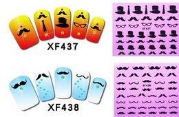 Wholesale 20 styles lovely Blackbeard D Nail Sticker Factory Direct