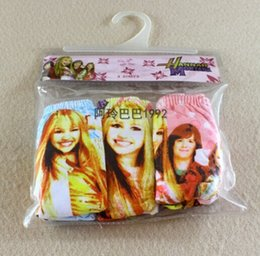 Wholesale NEW free shpping Hannah Montana Breathable cotton underwear bag Cartoon images of girls lace Antibacterial panties