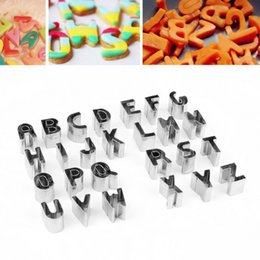 2017 cake decorating 26 letter cutters 26 pieces alphabet letter cake decorating set fondant icing cutter