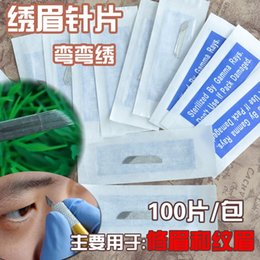 Wholesale Excellent Permanent Makeup Blade Manual Eyebrow Tattoo Blades Needles