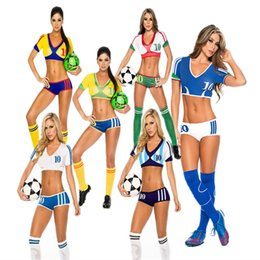 Wholesale Cheerleading football baby clothing clothing female summer Europe and America Bar ds costumes photo cheerleader costume suit