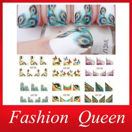 Wholesale Nail Water Decal sheets Feather Butterfly Transfer Nail Art Sticker DIY French Stylish Nail Tip Wraps Nail Decoration Tool