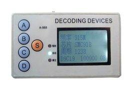 Cardiagnostics 1pc 4 em 1 Controle Remoto Decoder frequência fixa Decoding remoto de dispositivos sem fios Decoder Controle Remoto