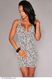 Discount Sexy Zebra Print Party Dress  2017 Sexy Zebra Print ...