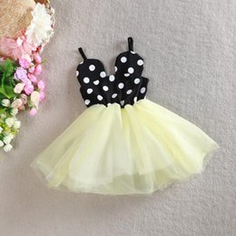 Wholesale Gauze Sleeveless minnie mouse dresses dot cotton skirt with shoulder straps tutu skirt summer monsoon kids Prom Dresses princess dresses