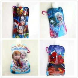 Wholesale christmas gift spider man Avengers frozen super hero boy girl kids Cups water bottles sport water bags