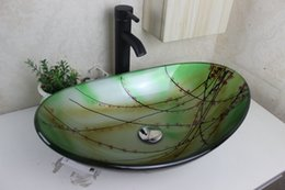 Green Pastoral Style Tempered Glass