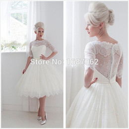 Lace one shoulder t-length dress